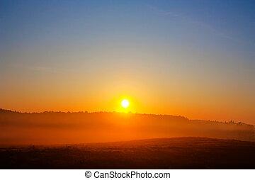 Dawn, ländliche Landschaft