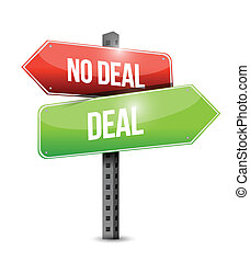 Deal, kein Deal Zeichen Illustration Design.