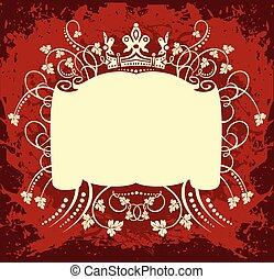 Decorative Rahmen mit Krone.