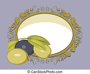 Decorative Rahmen mit Oliven