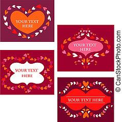 Decorative Vektor-Retrorahmen mit Herz