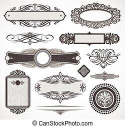Decorative Vektorendesign-Elemente &seitige Deko