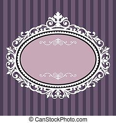 Decorativer ovaler Jahrgangsrahmen