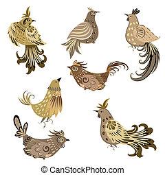 Decorativer Vogel