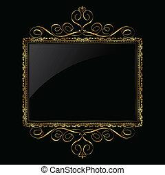 Decoratives Gold und schwarzes Bild