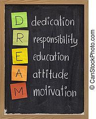 Dedikation Verantwortung für die Motivation der Bildung