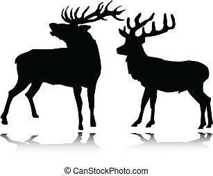 Deer Vektor Silhouettes