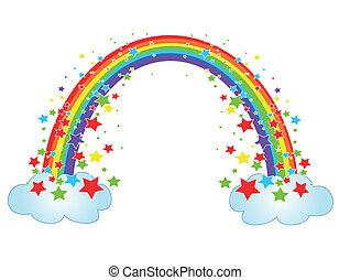 Deko mit Regenbogen