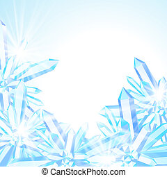 dekor, vektor, winter, karte