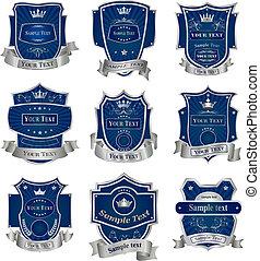 Dekorate Labels-Sammlungs-Sektor