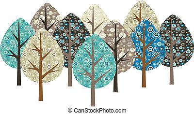 Dekorationsgranbäume