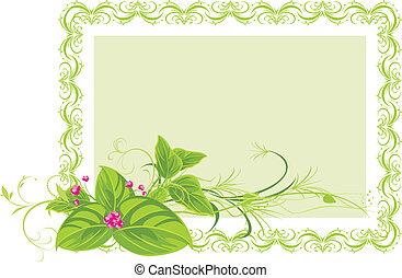 Dekorationsrahmen mit Blumen