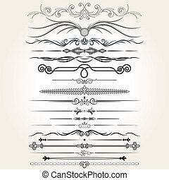 Dekorationsregeln. Vektorenmusterelemente