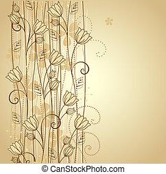 dekorativ, blumen