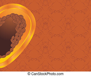 dekorativ, bohnenkaffee, heart., hintergrund