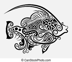 dekorativ, fische, 2