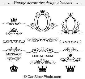 Dekorative Designelemente. Vector.