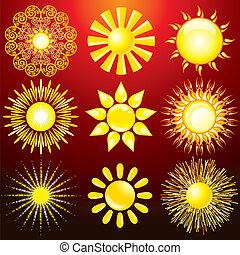 Dekorative Sonne