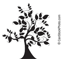 Dekorativer Baum.