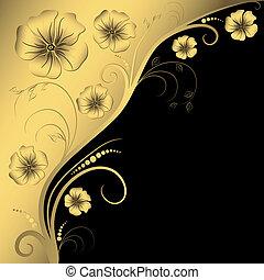 Dekorativer Blumenrahmen