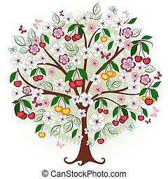 Dekorativer Kirschbaum