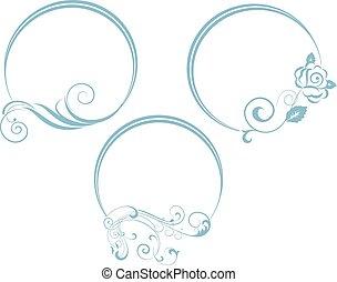 Dekorativer Zweig mit ovalem Rahmen.