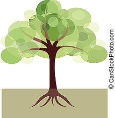 Dekoratives Bild von Baum.