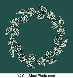 Dekoratives Blumengestell.