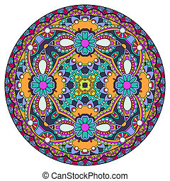 Dekoratives Design der Zirkelschale Vorlage, rund geometrische patte.