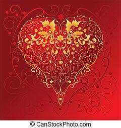 Dekoratives rotes Herz.
