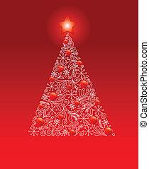 Dekorierter Weihnachtsbaum.