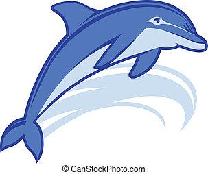 Delfin-Maskottchen