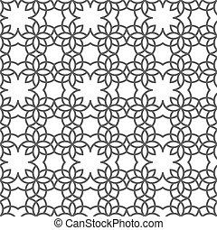 Delicate nahtlose Muster im arabischen Stil