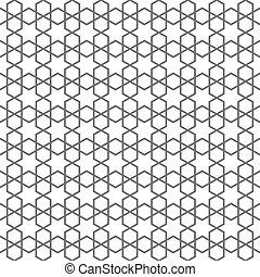 Delicate nahtlose Muster im islamischen Stil mit Sternen