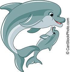Delphine Mutter und Baby.