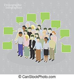 demografisch, infographics