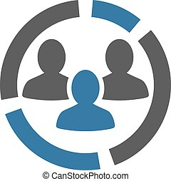 Demographie Diagramm Icon von Business Bicolor set