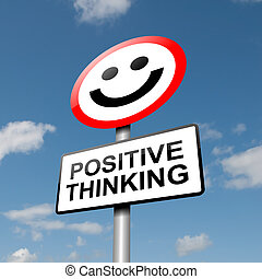 denken, positiv, concept.