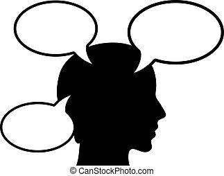 Denkende Person