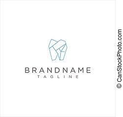 dental, z�hne, zahn, logo, polygon., stilisiert, gesundheit, monogram, einfache , ikone, design, monoline, grobdarstellung, wohnung