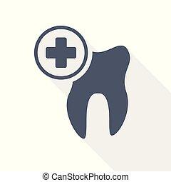 Dentisten-Vektorzahn-Ikone.