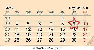 Der 9. Mai. Kalender
