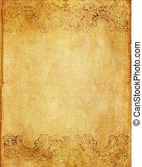 Der alte Grunge-Papier-Hintergrund mit dem klassischen Siegerstil