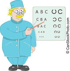 Der Arzt, der Augenarzt