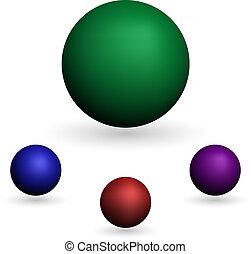 Der Ball wurde auf weißem Hintergrund isoliert