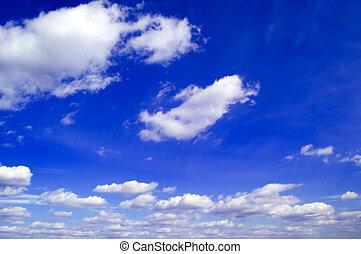 Der blaue Himmel.