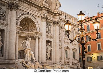 Der fabelhafte Trevi Springbrunnen in Rom.