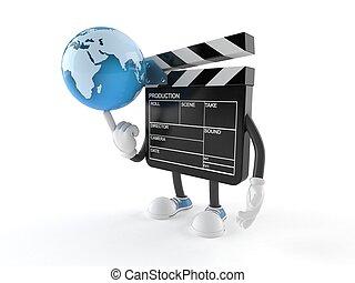 Der Film wird den Charakter mit Weltkugeln versenken