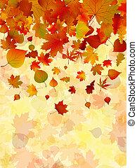 Der Herbst hinterlässt Hintergrund. EPS 8