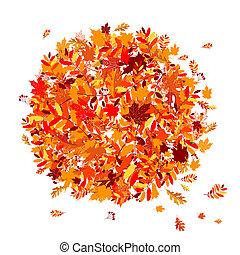 Der Herbst hinterlässt Hintergrund für dein Design